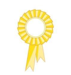Yellow award ribbon vector image