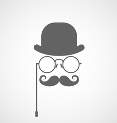 Face of gentleman capitalist or hipster vector image vector image