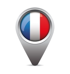 France pointer flag vector image vector image