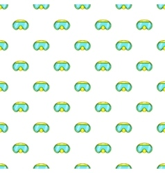 Goggles for diving pattern cartoon style vector image vector image