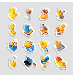Icons for retail commerce vector image vector image