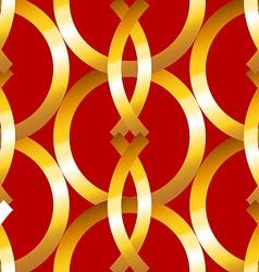 Seamless bold gold rings geometrics pattern vector image vector image