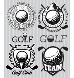set of patterns badges for golf vector image vector image