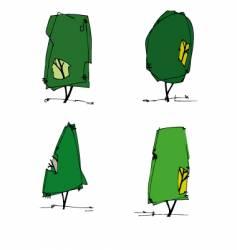 trees cartoon vector image