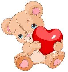 Valentines Teddy Bear vector image vector image