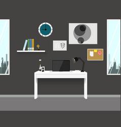 workspace interior home modern design vector image vector image