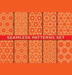 Beautiful colorful seamless patterns set vector