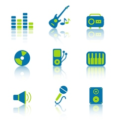 Music Equipment and Objects 1 vector image