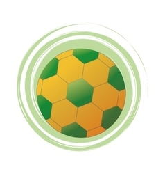 Soccer ball of brazil design vector
