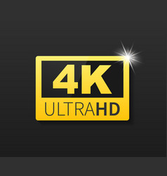 4k ultra hd label high technology led television vector