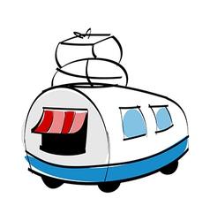 A van vector image