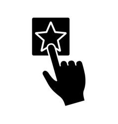 add to favorite button click glyph icon vector image