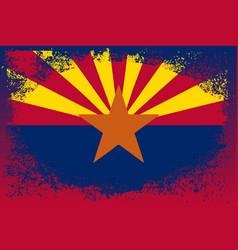 Arizona state oval grunge vector