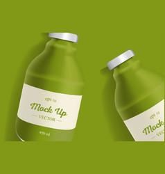 Avocado or broccoli juice package design vector