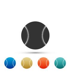 baseball ball icon isolated on white background vector image