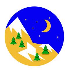 beautiful christmas winter landscape background vector image