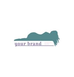 Beauty sleep sleeping woman for bed spa logo vector
