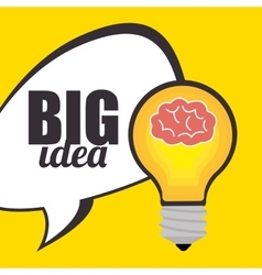 Big ideas graphic design with icons vector image