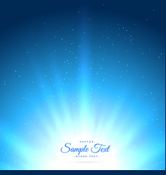 Blue background with glowing sunburst vector