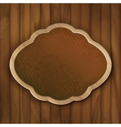 Board Frame on Wood Wall vector image