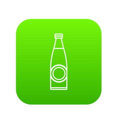 bottle icon green vector image