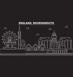 Bournemouth silhouette skyline great britain vector