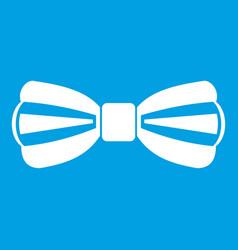 Bow tie icon white vector