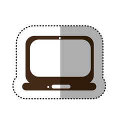 Brown technology laptop service icon vector