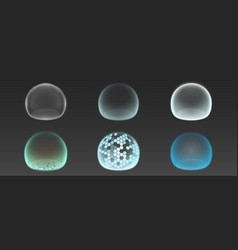 Bubble shields protection force fields vector