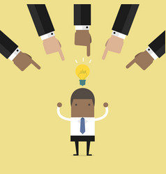 businessmen hands choosing best business idea vector image