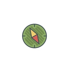 Camping vintage compass icon design Use vector