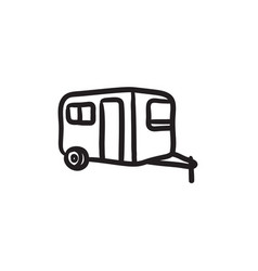 Caravan sketch icon vector