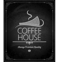 Chalkboard coffee vector