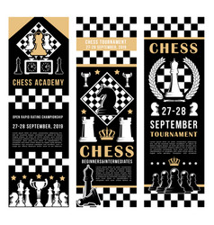 chess tournament sport academy game vector image
