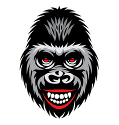 color with a smiling gorilla vector image