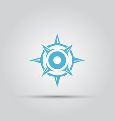 Compass isolated abstract icon vector
