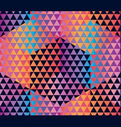 concept hexagon geometric seamless pattern vector image