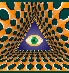 Conceptual abstract all-seeing eye in the end of vector