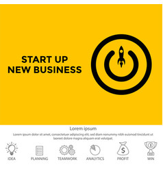 conceptual of start up new business project take vector image