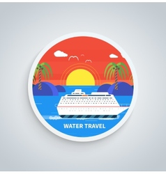 Cruise Ship and Clear Blue Water Water Tourism vector image
