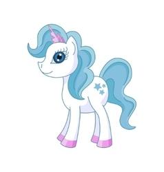 Cute horse princess vector