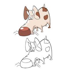 cute hunting dog cartoon vector image