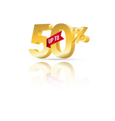 discount up to 50 template design vector image