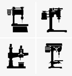 Drilling machines vector
