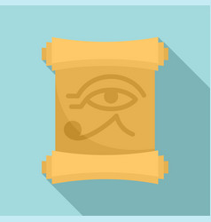 Egypt papyrus icon flat style vector