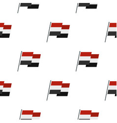 Egyptian wavy flag pattern seamless vector