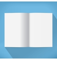 empty opened book vector image