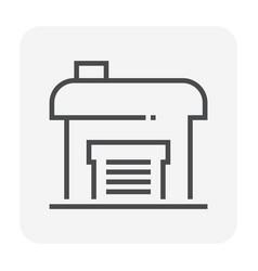 factory icon black vector image