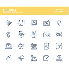 flat line icons design-design vector image
