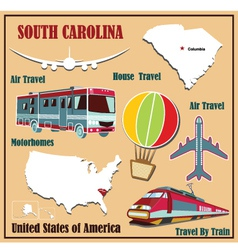 Flat map of South Carolina vector image